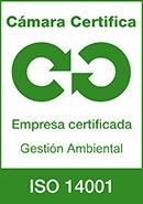 Certificado cámara de Madrid ISO14001