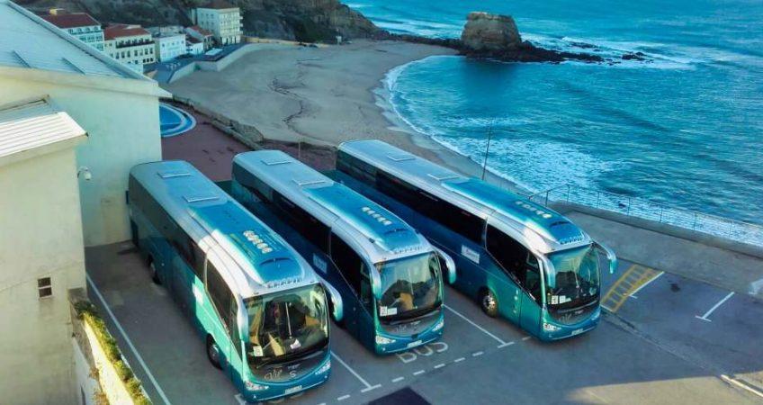 Vimeiro con el autobús del Grupo Chapín