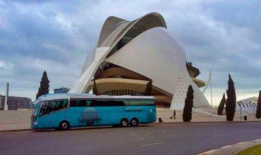 Viajamos a Valencia con el autobús del Grupo Chapín