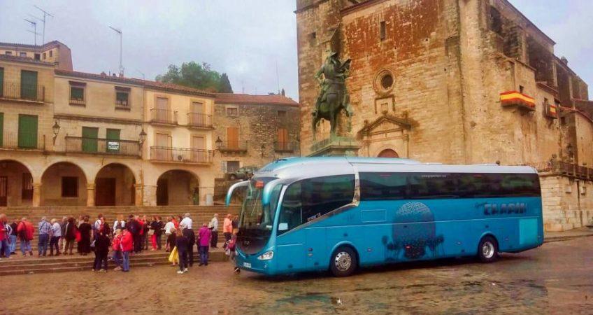 Viajamos a Trujillo con el autobús del Grupo Chapín