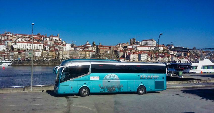 Viajamos a Oporto con el autobús del Grupo Chapín
