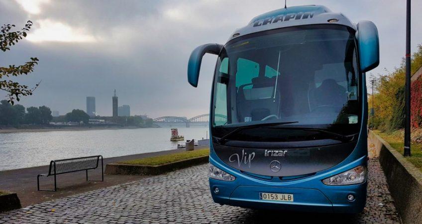 Viajamos a Colonia con el autobús del Grupo Chapín